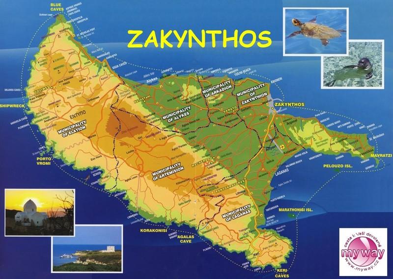 Mapa Zakynthosu