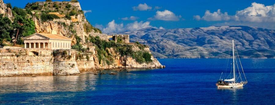 ostrov korfu