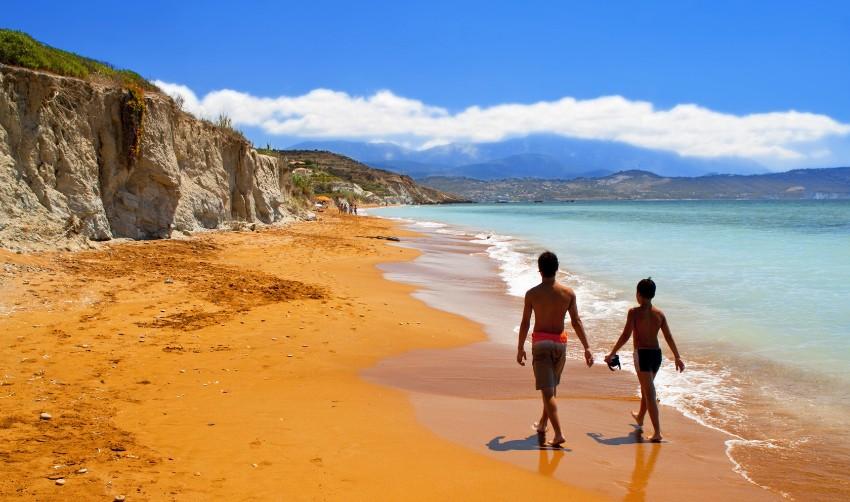 Pláž Kefalónia Grécko