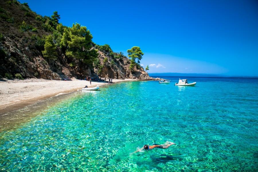 Chalkidiki dovolenka pláž